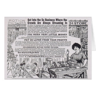 Vintage Verkaufs-Popcorn-Anzeige: Verdienen Sie Karte