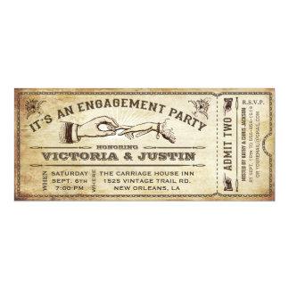 Vintage Verlobungs-Party-Karten-Einladung III 10,2 X 23,5 Cm Einladungskarte