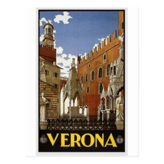 vintage-verona-travel-poster. postkarte
