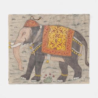 Vintage verzierte Elefant-Malerei (17. Fleecedecke
