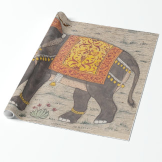 Vintage verzierte Elefant-Malerei (17. Geschenkpapier