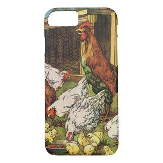 Vintage Vieh, Hahn, Hennen, Hühner iPhone 8/7 Hülle