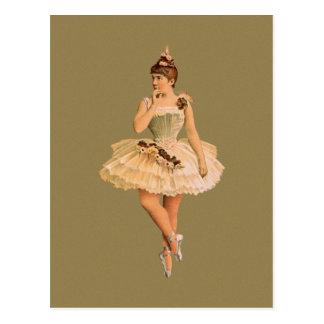 Vintage viktorianische Ballerina Postkarte
