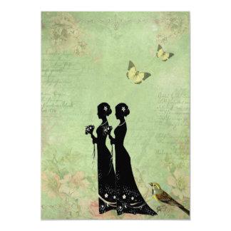 Vintage, viktorianische Bräute, Wedding Einladung