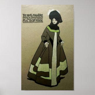 Vintage viktorianische Dame Ad Poster