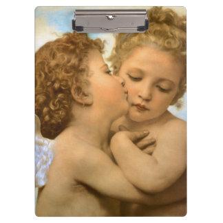 Vintage viktorianische Engel, erster Kuss durch Klemmbrett