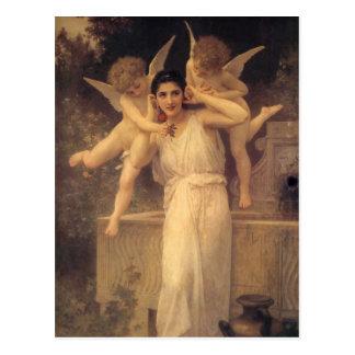 Vintage viktorianische Engel, Jugend durch Postkarte