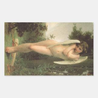 Vintage viktorianische Engels-Kunst, Amor durch Rechteckiger Aufkleber