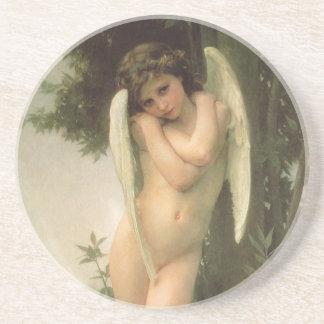Vintage viktorianische Engels-Kunst, Amor durch Untersetzer