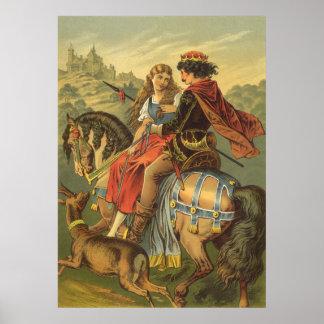 Vintage viktorianische feenhafte Geschichte, Brude Plakatdrucke