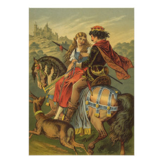 Vintage viktorianische feenhafte Geschichte, Poster