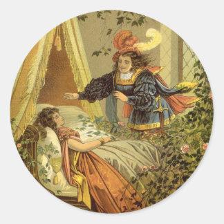 Vintage viktorianische feenhafte Geschichte, Runder Aufkleber