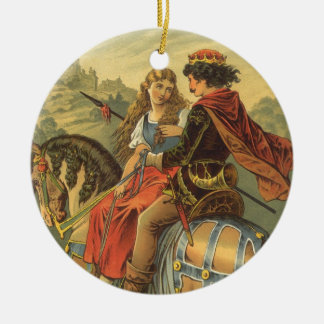 Vintage viktorianische feenhafte Geschichte, Rundes Keramik Ornament