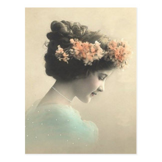 Vintage viktorianische Frau Postkarte