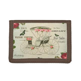 Vintage viktorianische girly Geldbörse mit Blumen