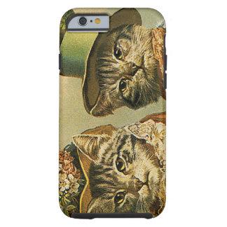 Vintage viktorianische Katzen in den Hüten, Tough iPhone 6 Hülle