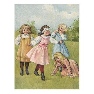 Vintage viktorianische Kinder die mit verbundenen