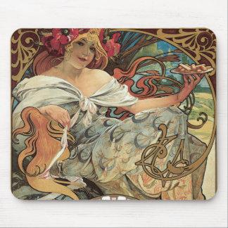 Vintage viktorianische Kunst Nouveau durch Mousepad