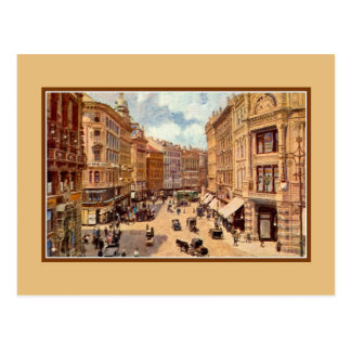 Vintage viktorianische Kunst Wien Graben Postkarten