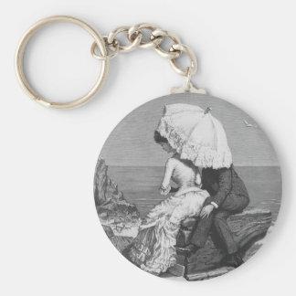 Vintage viktorianische romantische Paare durch Schlüsselanhänger