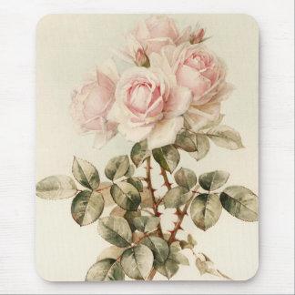 Vintage viktorianische romantische Rosen Mousepad