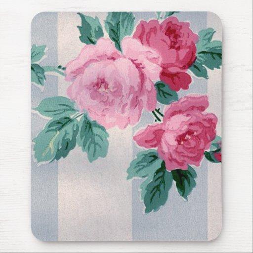 vintage viktorianische rosen tapete mousepad zazzle. Black Bedroom Furniture Sets. Home Design Ideas