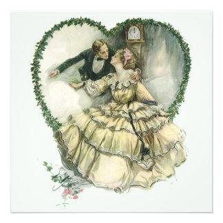 Vintage viktorianische Weihnachtshochzeit Individuelle Ankündigung