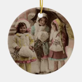 Vintage Vintage Kinder der Verzierung… Weihnachtsbaum Ornament