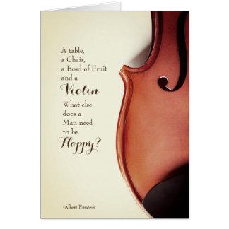 Vintage Violinen-Zitat-Karte Karte