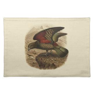 Vintage Vögel der Wissenschafts-NZ - Kea Tischset