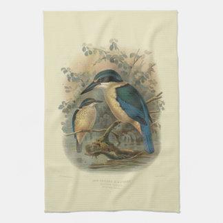 Vintage Vögel der Wissenschafts-NZ - NZ Eisvogel Geschirrtuch