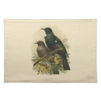 Vintage Vögel der Wissenschafts-NZ - Tui-Tischset Stofftischset