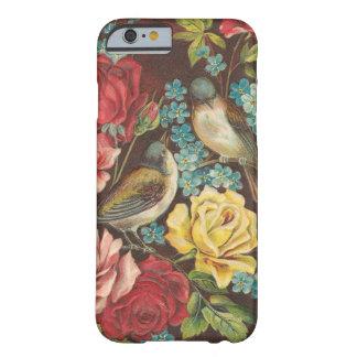Vintage Vögel und Blumen Barely There iPhone 6 Hülle