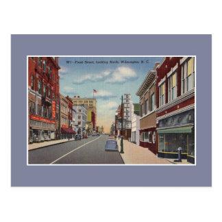 Vintage vordere Straße Wilmington NC Postkarte
