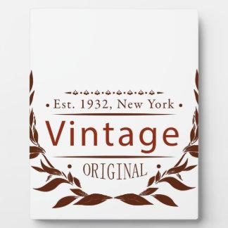 Vintage Vorlage Fotoplatte