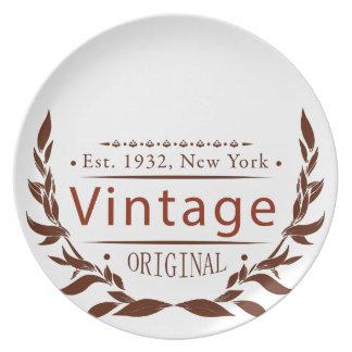 Vintage Vorlage Melaminteller