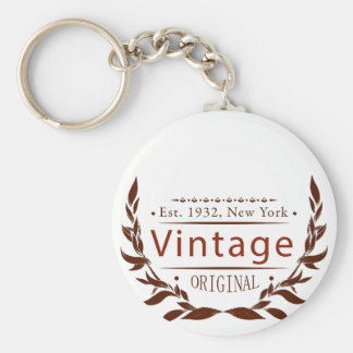 Vintage Vorlage Schlüsselanhänger