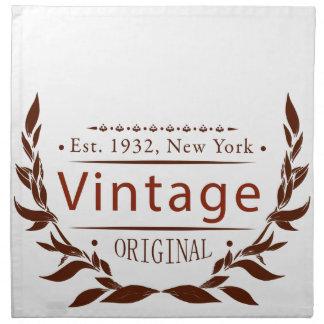 Vintage Vorlage Serviette