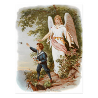 Vintage Wächter-Engels-Postkarte Postkarte