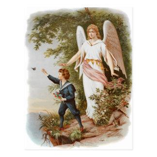 Vintage Wächter-Engels-Postkarte Postkarten