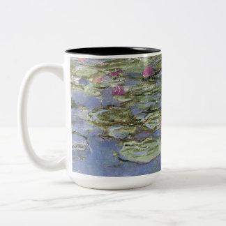 Vintage Wasser-Lilien Zweifarbige Tasse