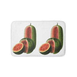 Vintage Wassermelone-hohe runde, Bio Badematte