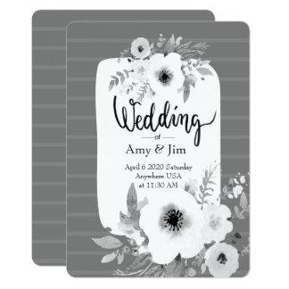 Vintage Watercolor-Hochzeits-Einladung 12,7 X 17,8 Cm Einladungskarte