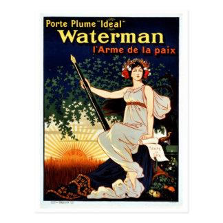 Vintage Watermanfüllfederhalterwerbung Postkarte