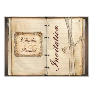 "Vintage wedding Invitation cards 5"" X 7"" Invitation Card"