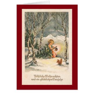 Vintage Weihnachts kundenspezifische Gruß-Karte Grußkarte