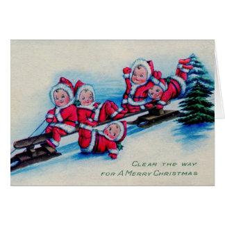 Vintage Weihnachtsbabys Karte