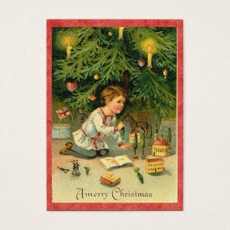 Vintage Weihnachtsbaum-Geschenk-Umbauten Visitenkarte
