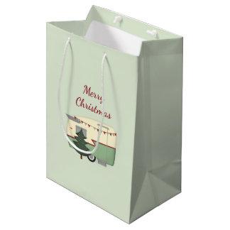 Vintage Weihnachtscamper-Geschenk-Tasche Mittlere Geschenktüte