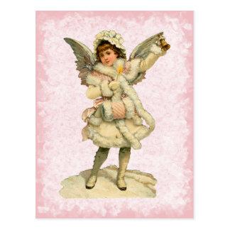 Vintage Weihnachtsengels-Postkarte Postkarte